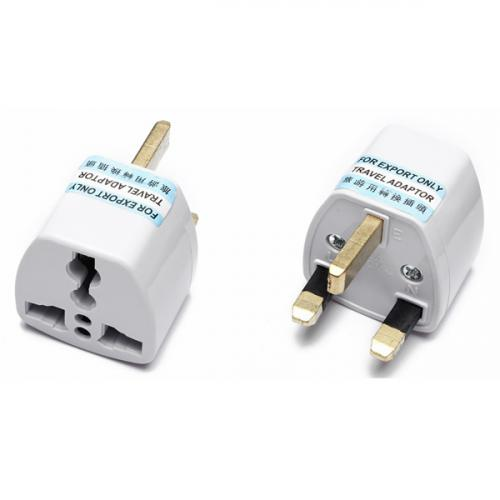 UK type 3 flat blades plug with earthed Universal Travel AC Adapter